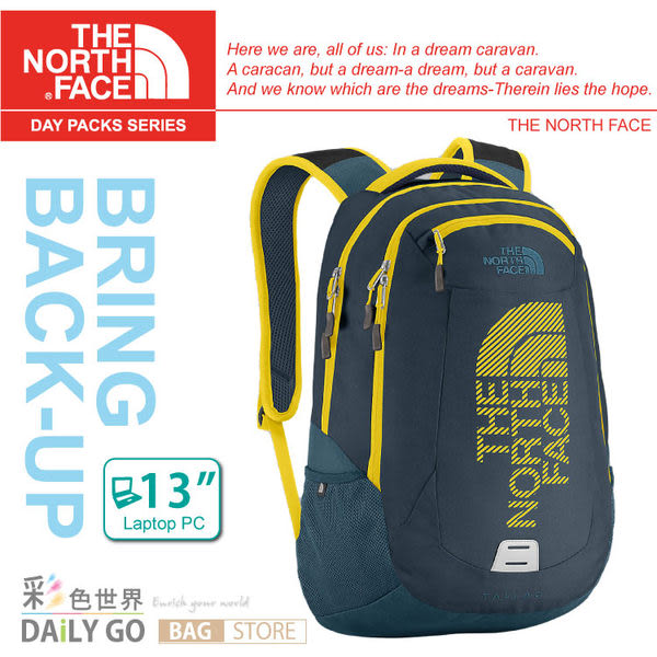 The North Face背包 美國 24L13吋電腦背包後背包北臉CE89-AEH
