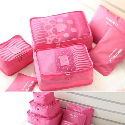 收納袋 多功能旅行收納袋六件套整理包【MJMJA-3】 BOBI  05/12限時特價