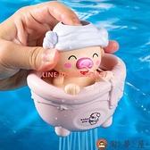 兒童洗澡玩具寶寶戲水小豬花灑嬰兒浴室會噴水小云朵云雨【淘夢屋】