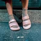 IMPACT Nike Wmns Benassi Duo Ultra Slide 粉底 白字 雙槓 涼鞋 拖鞋 休閒 女鞋 經典 百搭 819717-605