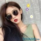 墨鏡 墨鏡女韓版潮ins復古小臉圓臉個性百搭網紅街拍2021新款太陽眼鏡 快速出貨