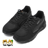 PUMA Graviton Jr 鞋帶款 運動鞋 大童 黑 R7093(38198701)