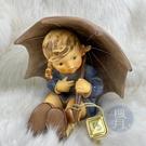 BRAND楓月 GOEBEL 高寶 撐雨傘小女孩 陶瓷擺飾 居家擺設 藝術品