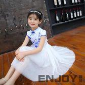 【618好康又一發】女童連衣裙 夏季洋氣裙子兒童演出服旗袍