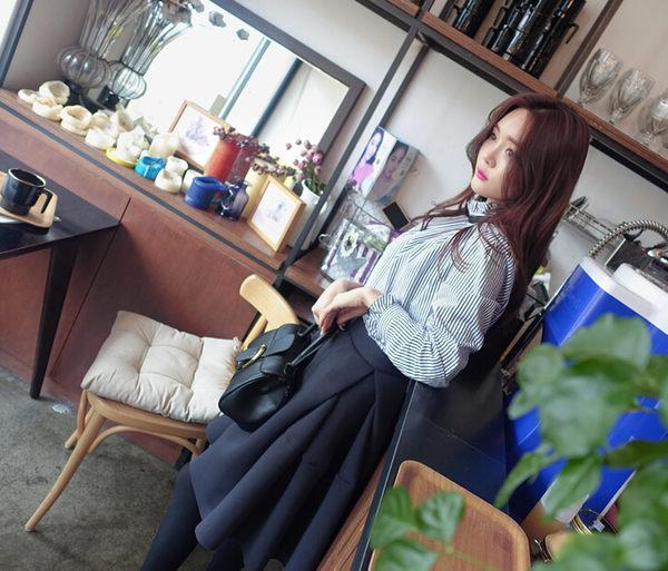 短裙裙子及膝裙 復古甜美高腰澎澎中長裙 艾爾莎【TAK2791】