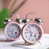 鬧鐘 小鬧鐘創意學生簡約可愛靜音床頭女多功能學生用電子鐘表起床神器【新品八八折】