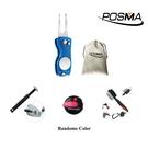 Posma DR070A 二合一高爾夫果嶺叉 一按重設計分器 雙面清潔刷 六角球頭清潔刀 套組
