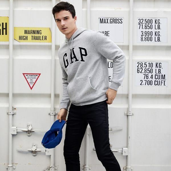 Gap男裝 logo連帽套頭長袖男士上衣 保暖上衣 867073