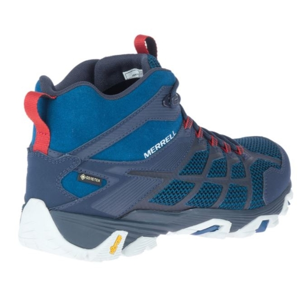 [好也戶外] Merrell MOAB FST 2 MID GTX 男登山鞋 藏藍/正紅 NO.500119