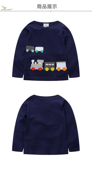 上衣 男童 嘟嘟火車 歐美經典兒童純棉長袖T恤