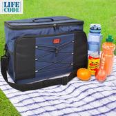 【LIFECODE】大歐風保冰袋/保溫袋/購物袋 XL號(35L) -藏青色