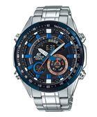 附台灣卡西歐保卡才是公司貨【時間光廊】CASIO 卡西歐 EDIFICE 雙顯 三眼錶 ERA-600DB-1A 鋼帶