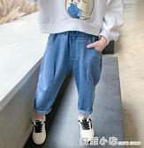 女童外穿牛仔褲春秋2021新款中小兒童裝褲子韓版洋氣長褲寶寶夏款 蘇菲小店