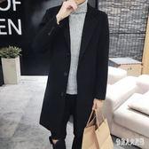 毛呢外套男長款風衣韓版修身毛呢大衣英倫青年妮子外套 qw1063『俏美人大尺碼』