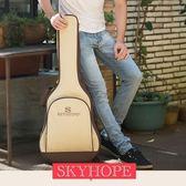 吉他包 吉他包吉他包41寸加厚雙肩背包防水通用403938學生用民謠琴包套袋個WD 果實時尚