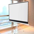 投影布幕螢幕60寸加厚支架幕高清白玻纖幕...