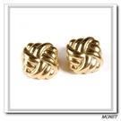 MONET 金色立體菱形夾式耳環(金色)990133