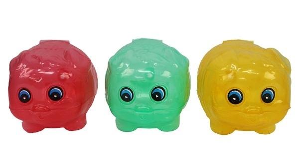 小豬撲滿 小明豬 透明豬撲滿/一袋10個入{特20} 豬存錢筒 MIT製