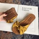 拖鞋女 2020夏季新款時尚外穿一字拖鞋女平底ins潮牛筋底軟底防滑涼拖鞋 一次元
