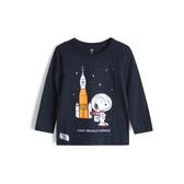 Gap男幼童 史努比印花圓領套頭T恤532824-藏青色