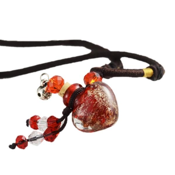 心型-愛戀琉璃精油瓶項鍊(姻緣紅)《含開光》財神小舖【DL-0002-2】引聚貴人