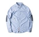 【JP.美日韓】日系 拼色設計款牛津紡襯衫 簡約襯衫 潮流襯衫