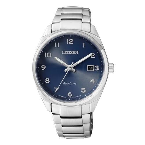 CITIZEN 時尚風格光動能腕錶/藍面/EO1170-51L