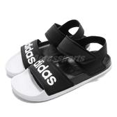 adidas 涼鞋 Adilette Sandal 黑 白 魔鬼氈 涼拖鞋 基本款 男鞋 女鞋【PUMP306】 F35416