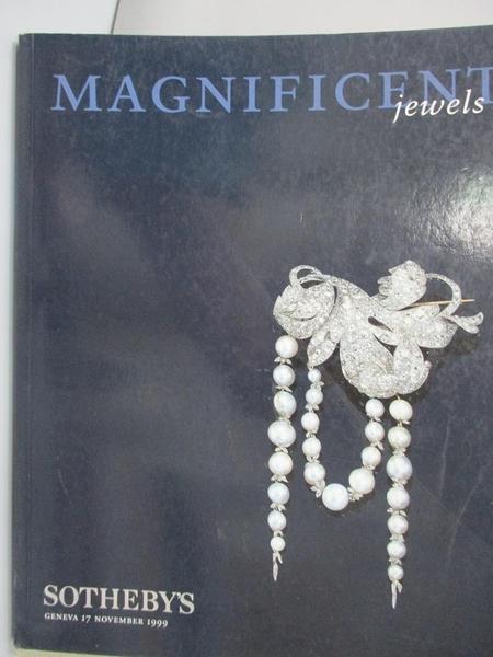 【書寶二手書T5/收藏_ZHU】Sotheby s_Magnificent Jewels_1999/11/17