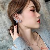 耳掛 網紅個性百搭不對稱水鑽星星耳骨夾耳掛耳釘新款潮夸張耳環女