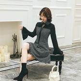 大尺碼洋裝 秋冬裝新款特大碼女裝 胖妹妹200斤氣質優雅小香風收腰連身裙JD 伊蘿鞋包精品店