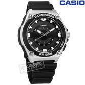 CASIO / MWC-100H-1A / 卡西歐 立體刻度 LED照明 日本機芯 防水100米 運動 橡膠手錶 黑色 44mm