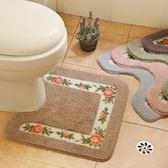浴室吸水地墊防滑防水U型馬桶腳墊衛生間廁所洗手間門墊地毯「榮耀尊享」