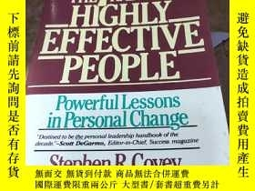 二手書博民逛書店The罕見7habits of highly effective peopleY10279 Stephen r