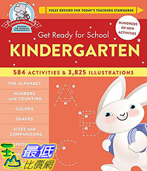 [8美國直購] 美國暢銷書 Get Ready for School: Kindergarten Hardcover – May 31, 2016