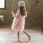 中大兒童秋裝連身裙2019新款女童公主裙子洋氣潮童裝小女孩衣服春