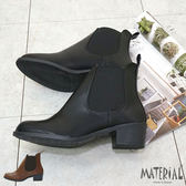 短靴 簡約側U鬆緊帶短靴 MA女鞋 T7814
