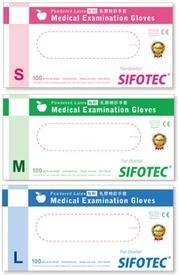 SIFOTEC無粉塑膠檢診手套/PVC手套(100入/盒) **朵蕓健康小舖**