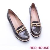 RED HOUSE-蕾赫斯-精緻真皮莫卡辛楔型鞋(共二色)