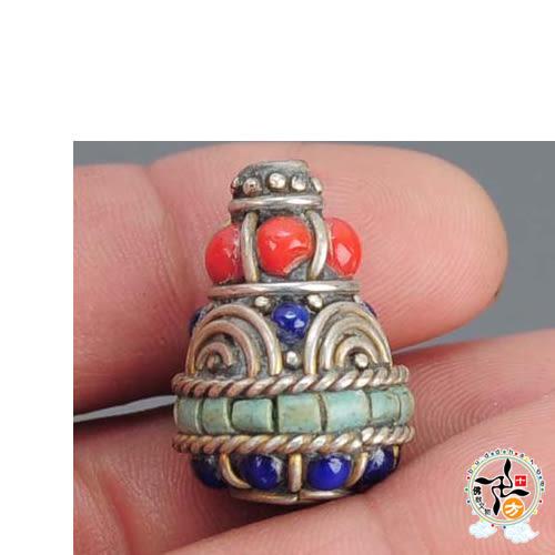寶瓶藏式 手工銅珠 【 十方佛教文物】