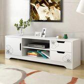 北歐電視櫃 現代簡約客廳電視機櫃小戶型仿實木簡易小型臥室地櫃WY 【快速出貨八五折鉅惠】