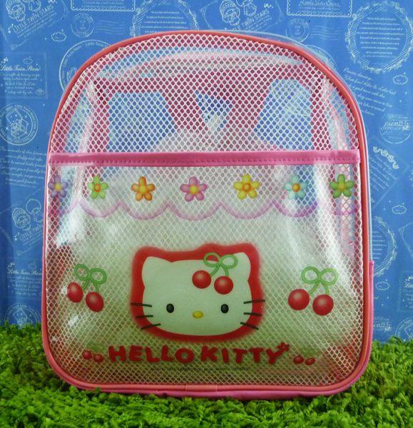 【震撼精品百貨】Hello Kitty 凱蒂貓~防水後背包~粉櫻桃【共1款】