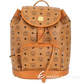 MCM 品牌圖騰單釦設計束口後背包(棕色) 1720019-B3