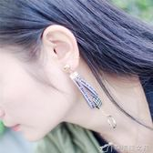 7806#韓版簡約圓圈耳環 女士創意款絨帶字母手工原創耳飾耳墜 辛瑞拉
