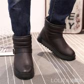 雪地靴男冬季保暖加絨加厚防水防滑短筒靴戶外滑雪休閒東北雪地棉 LOLITA