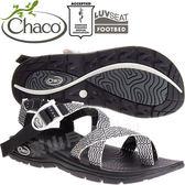 Chaco EZW02_HD50黑色翠花 女冒險旅遊涼鞋-Z/Volv2夾腳款 綁帶涼鞋