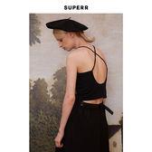 SUPERR vol.6.1 基本款後背交叉細肩帶打底背心