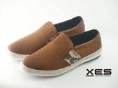 XES 時尚夏季草織邊休閒鞋 特殊點壓紋 男款/咖啡色