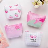 零錢包-日系可愛草莓少女皮質防水隨身零錢包收納包手拿包【AN SHOP】