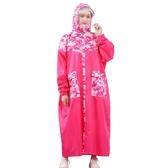 迷彩雨衣長款全身騎行時尚成人徒步男女帶袖電動電瓶車防暴雨雨披 ciyo黛雅